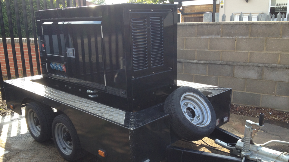 Cambridgeshire Stage Hire 20KVA Ultra Silent Road Towable Diesel Generator