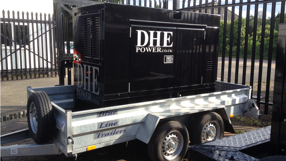 Cambridgeshire Stage Hire 60KVA Ultra Silent Road Towable Diesel Generator